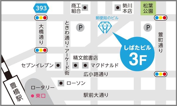 ホワイトニングカフェ豊橋店地図